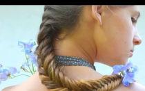 Как заплести косу рыбий хвост, пошаговая инструкция. Варианты плетения с фото