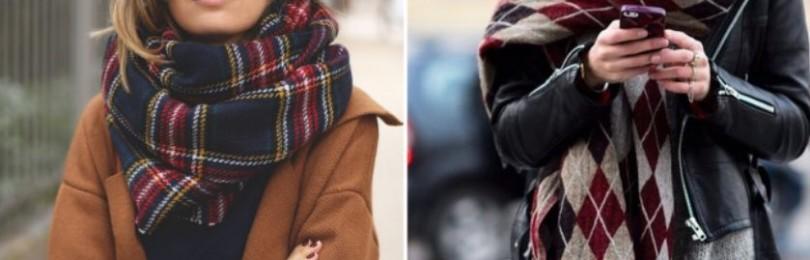 Модные женские шарфы 2020-2021,  как их выбирать, фото