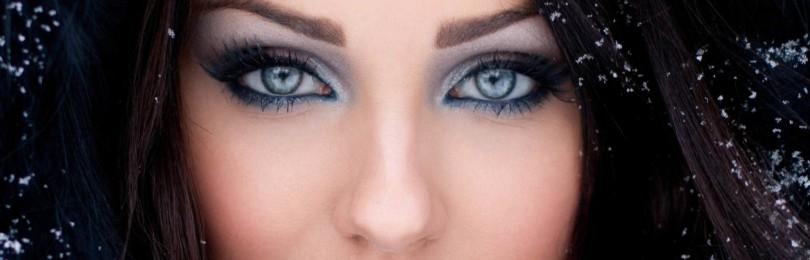 Красивый вечерний макияж для серых глаз