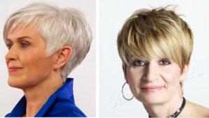 прическа после 50 лет, короткий волос