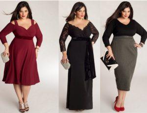 платья длиной миди и в по для полной женщины