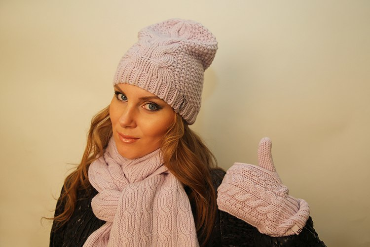 Вязание шапки бини женской