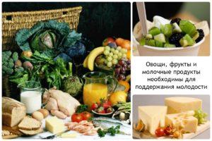 продукты питания от морщин