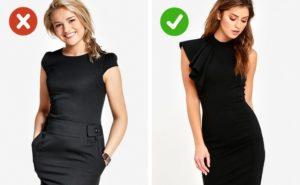 черное платье может выглядеть и дорого и дешево