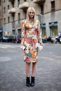 Платье с цветочным принтом 2018