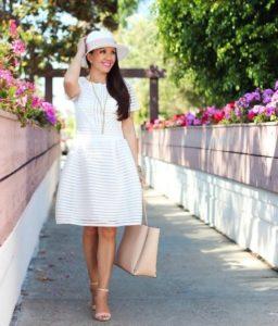 повседневное летнее платье с перфорацией
