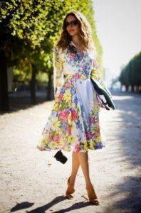 цветочное шифоновое платье
