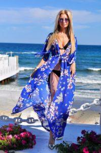 платье-халат для пляжа
