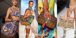 пляжные сумки модные показы