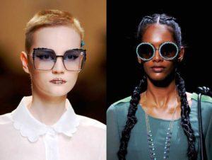 фото трендов на солнцезащитные очки с подиумов