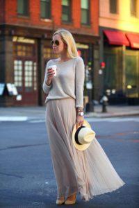 стиль романтика, юбка плиссе