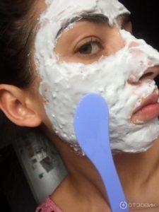 альгинатная маска с белой глиной