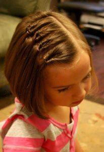 Прическа на короткие волосы по пробору