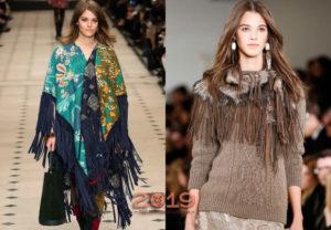 шарфы с бахрамой