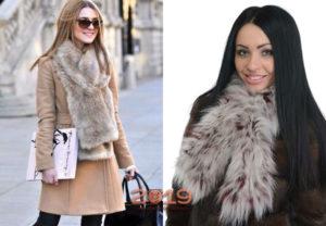 :модные женские меховые шарфы 2018-2019
