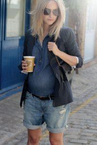 летние шорты для беременной, стрит стайл