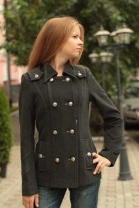 короткое пальто шинель