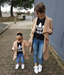 кардиган для мамы и дочки в одном стиле