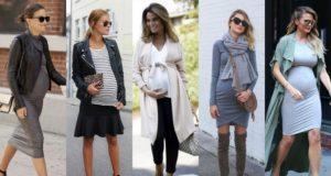 Стильные образы для беременных, осень-зима
